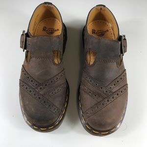 Women's Doc Martens Original Leather Clogs Size 5